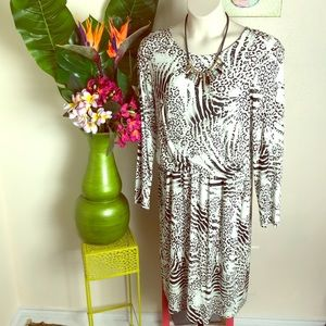 Lafayette 148 animal print dress career xxl NWT